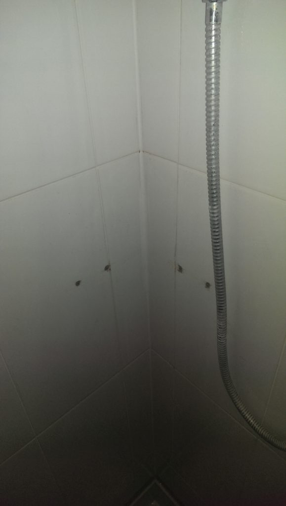 holes drilled in wall