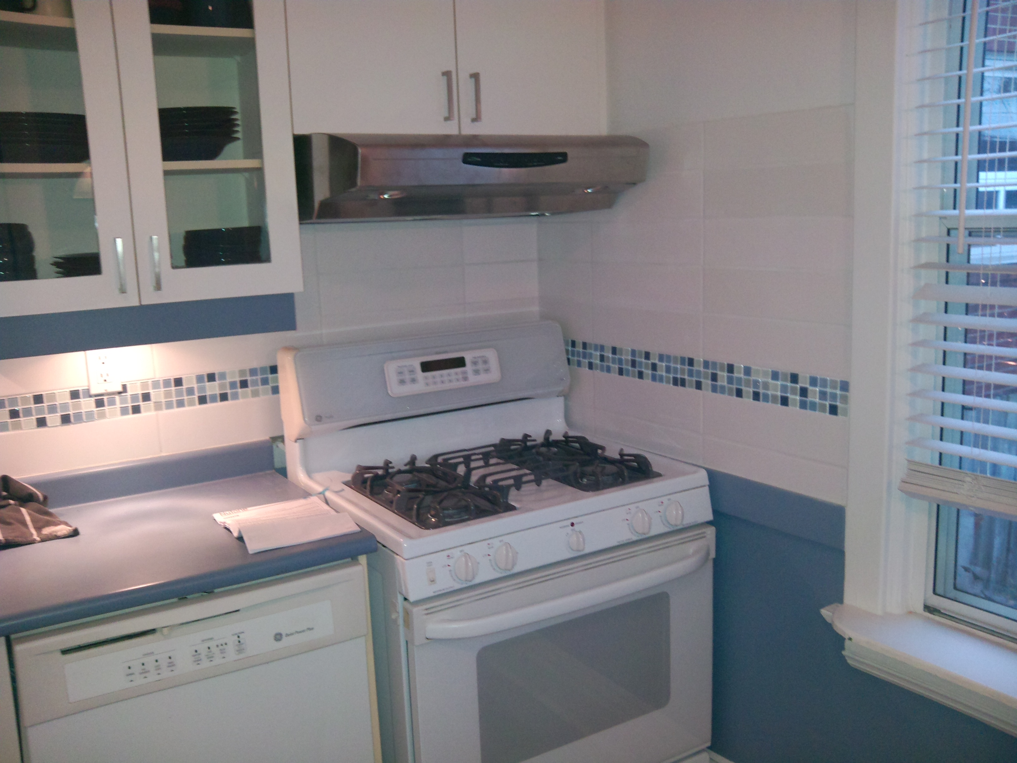 Before And After Adding Mosaic Tiles In The Kitchen