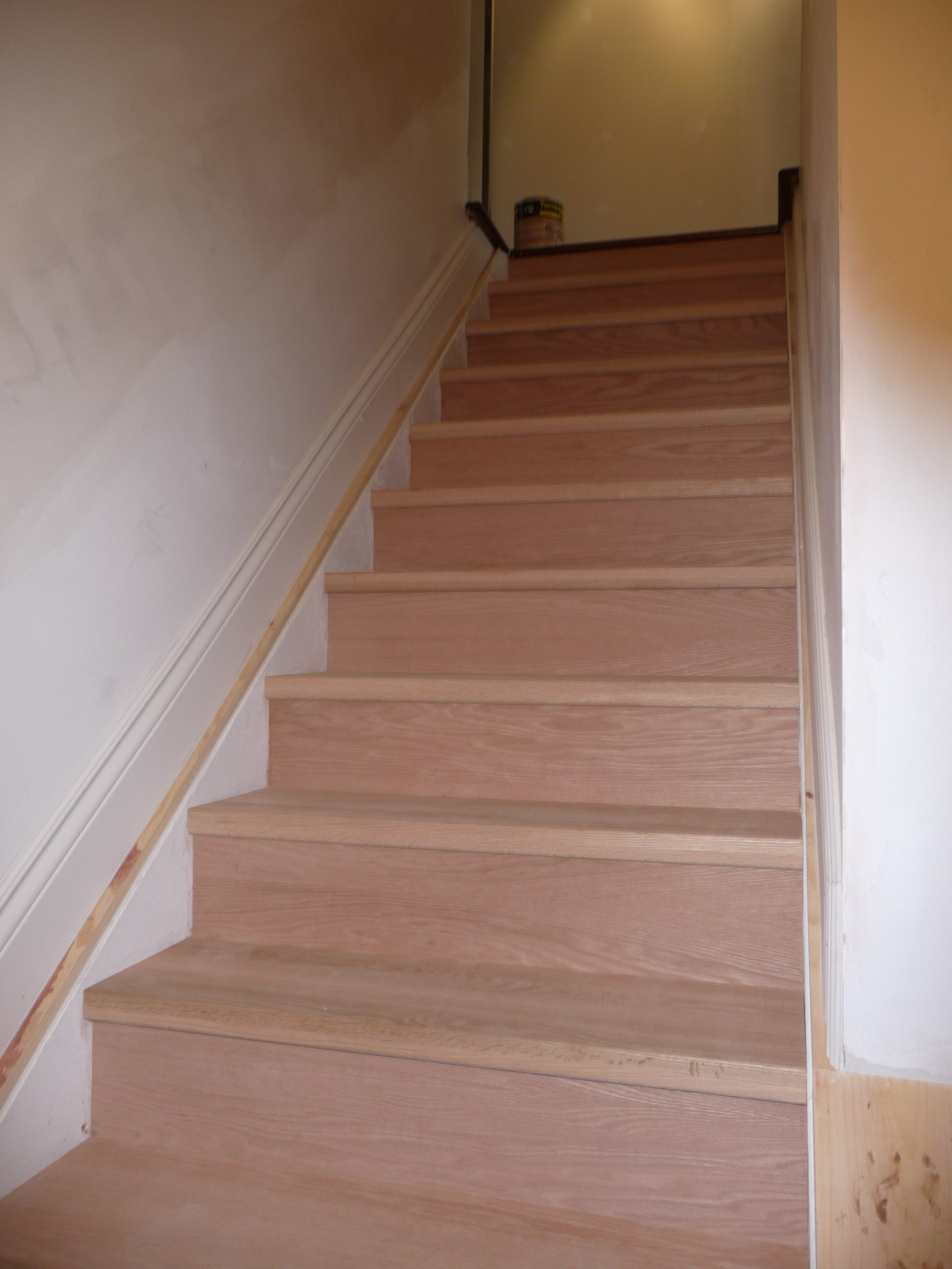 our first job was to repair and paint the stairway there was a lot of