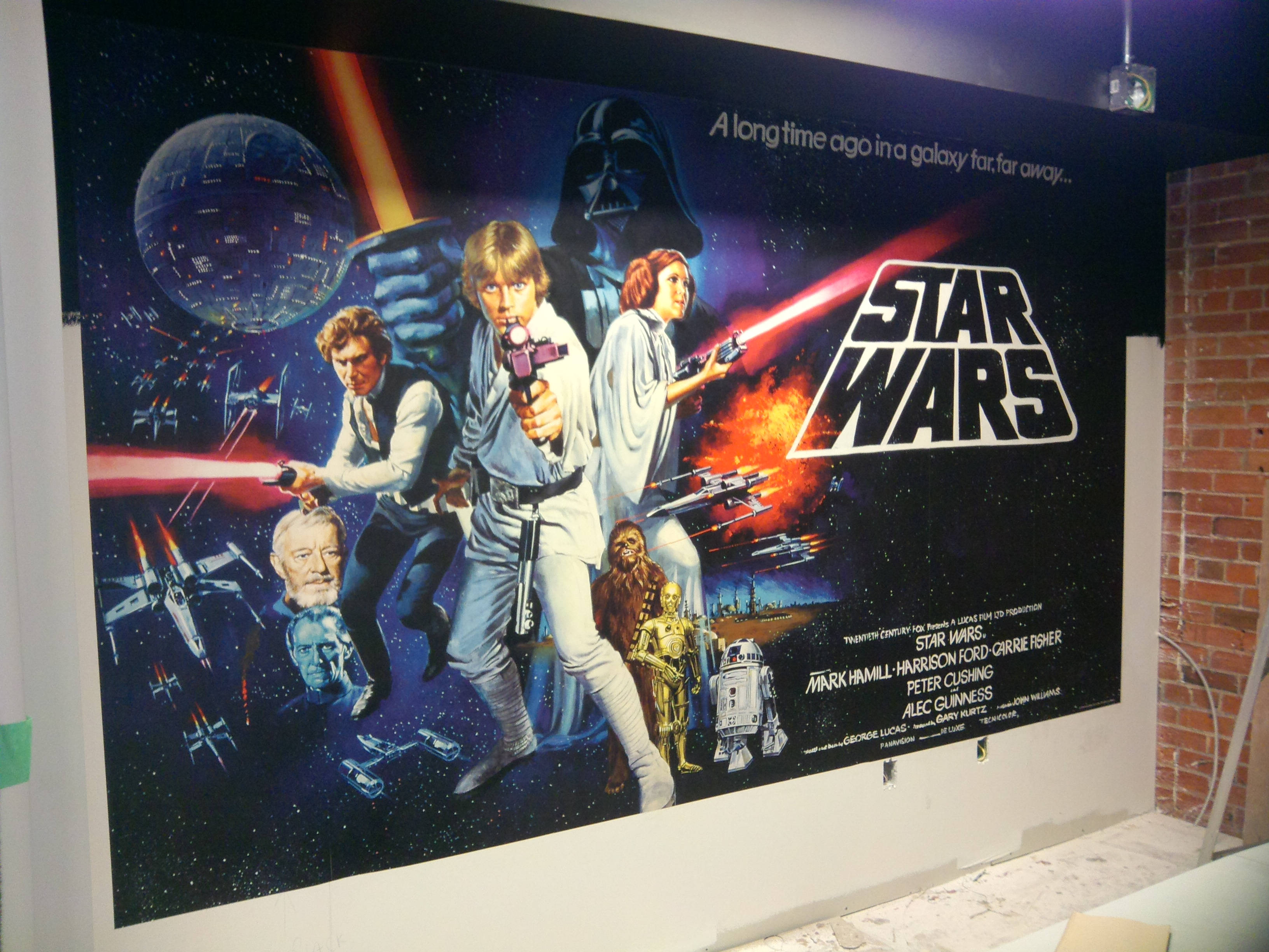 After photo Star Wars wallpaper mural