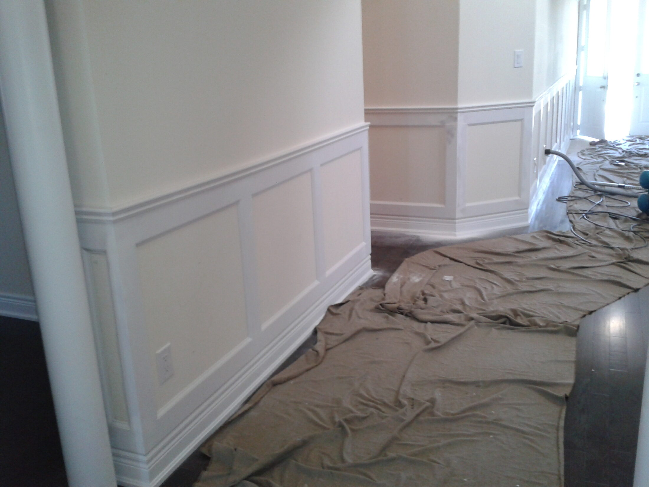 Wall Paneling Services : Wall paneling moulded with masterful care odd job