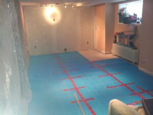 Basement room sub flooring
