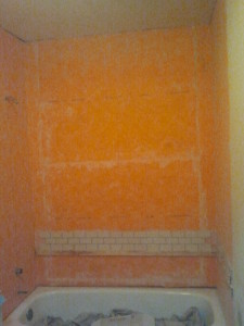 Remodeling a Small Bathroom - Waterproof Membrane