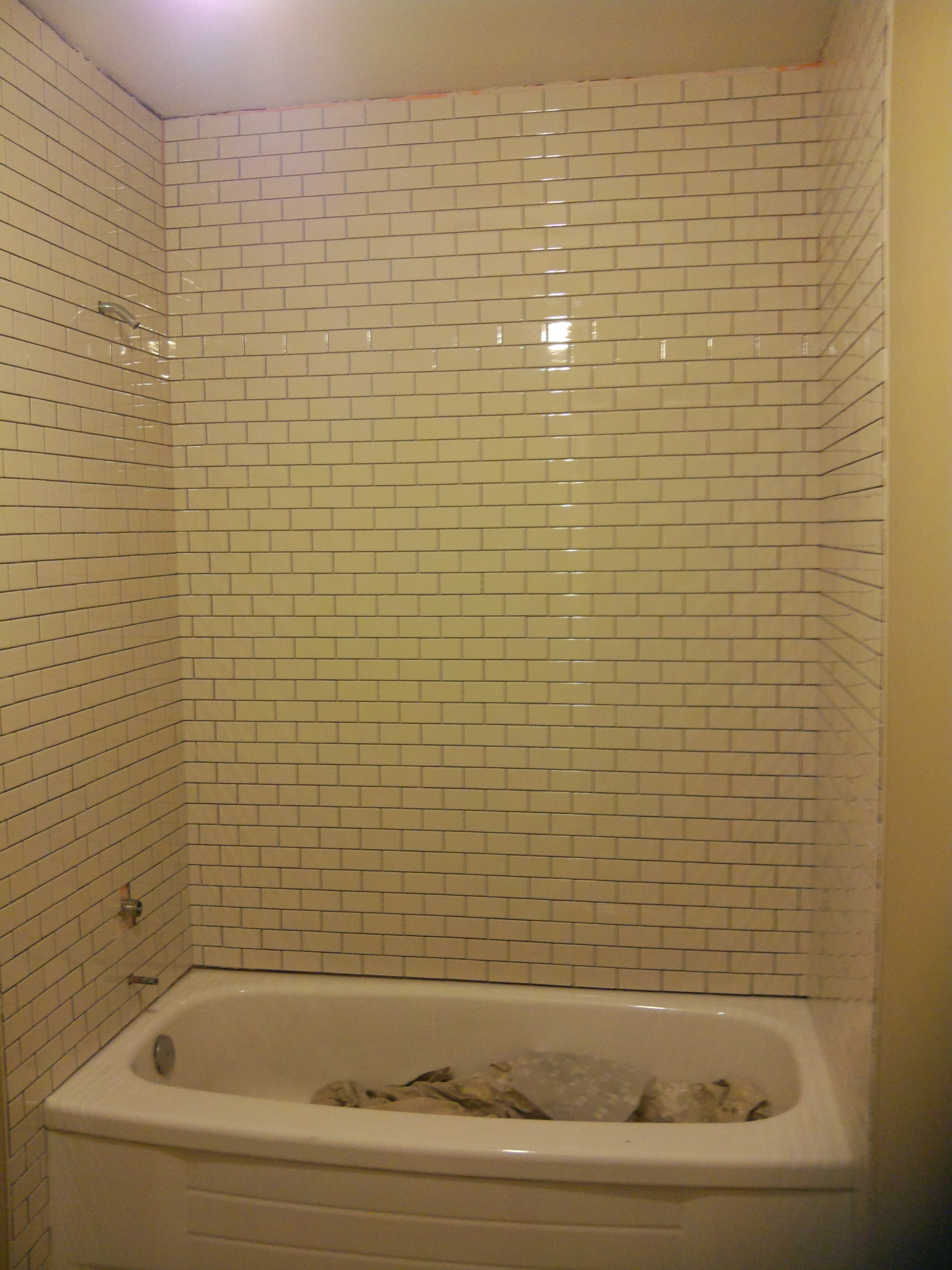 Remodeling a Small Bathroom C - Tiled Shower Stall