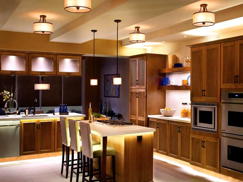 overhead lighting kitchen