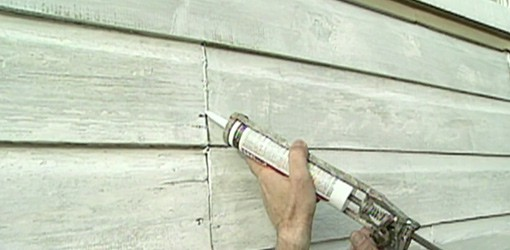 caulkingappliedonexteriorwall