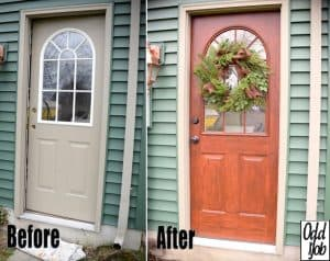 Front Door - Before After