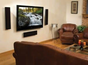 large tv mounted