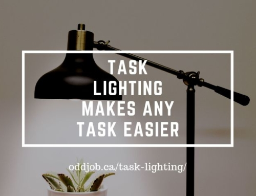 Task lighting makes any task easier