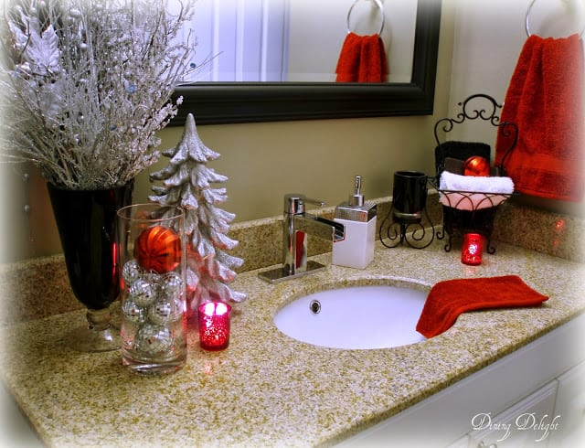 Christmas Decor in Bathroom
