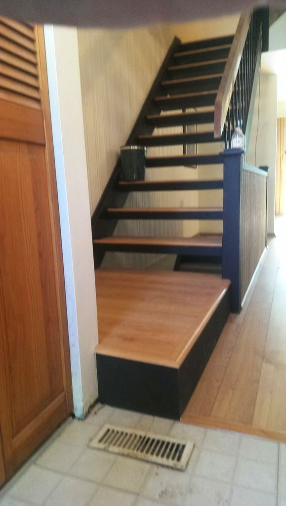 flooring added to stairs