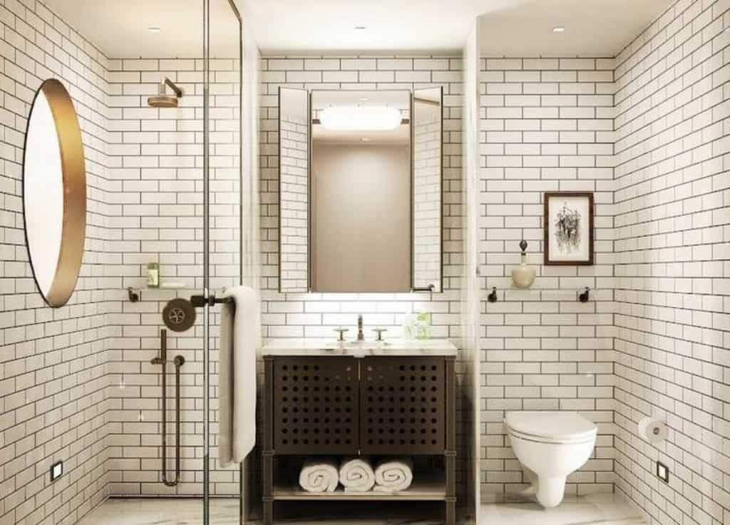 beautiful subway tile installation