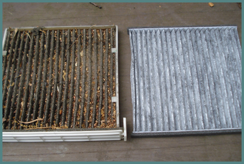 dirty air conditioner filter vs. clean air conditioner filter