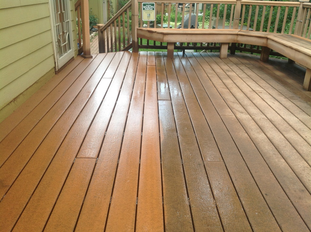 home exteriors - power washing deck